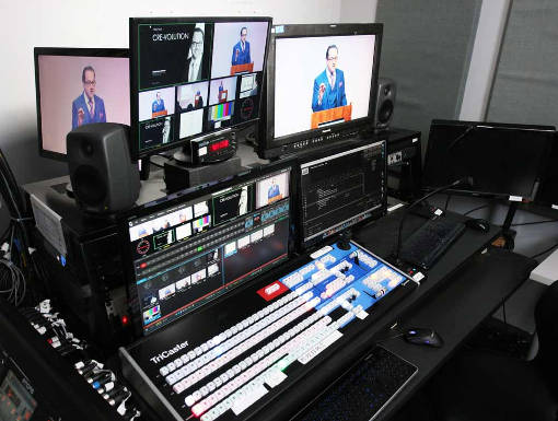WebCasting control room